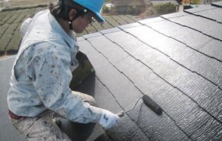 屋根シーラー塗装